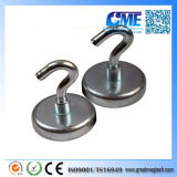 N35 D25X10mm con M5 Pot Magnet con Hook 35lbs