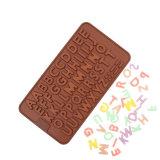 Fabricante del molde del chocolate del silicón de la carta del alfabeto