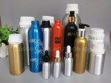 Botella de aluminio del aceite de oliva con el casquillo inalterable plástico blanco (PPC-ADB-012)