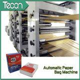 Sacco di carta di Flexo della valvola economizzatrice d'energia automatica di stampa che fa macchina