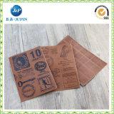 Escritura de la etiqueta de costura del cuero genuino del bordado para Men′ Dril de algodón de cuero de S (JP-LL003)