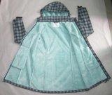 Yj-1073 여자의 소녀 녹색에 의하여 인쇄되는 방수 Breathable 두건이 있는 Softshell 재킷
