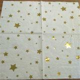 Del partido de la estrella del oro servilletas de papel, doblar la servilleta de papel