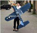12CH 2.4G F4u 해적 접는 날개 무선 제어 장난감 비행기
