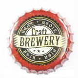 Funny Plain Metal Tin Beer Sign Bouteille Bouteille pour Bar