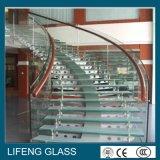 verre feuilleté de 6.38mm pour le plafond, la porte, la balustrade et la balustrade