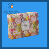 Cosmetic (CMG-MAY-045)のための花Printed Paper Bag