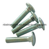 Tête ronde encolure carrée Boulons Boulons de Carrosserie DIN603 acier avec écrous