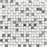 Resin를 가진 300*300*8mm Crackle Ice Ceramic & Glass Mosaic Tile
