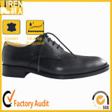 Mens-bereift schwarze echtes Leder-Polizei Militärpolizei-Büro-Schuhe