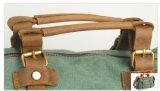 Sacco di Duffle americano di cuoio di svago di sport di stile di corsa della tela di canapa (RS-1801)