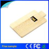 Azionamento di legno naturale promozionale dell'istantaneo del USB di figura della scheda del regalo 8GB