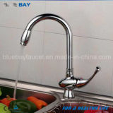 Mélangeur simple de robinet de taraud de bassin de cuisine de traitement de chrome de Chaud-Vente