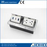 Socketes eléctricos del suelo, socket múltiple del enchufe del uso de la oficina