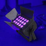 18X15W同価LED Rgbaw紫外線LEDはライトをつける