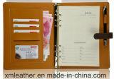Livre de tourillon d'écriture de papier de couverture de cuir de poste de papeterie