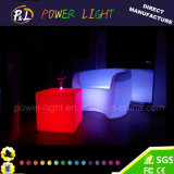 プラスチックLEDのラウンジの肘掛け椅子を変更するレストランの家具RGBカラー