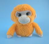 주황색 연약한 견면 벨벳 원숭이 장난감