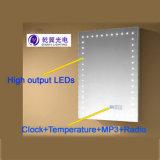 Indicatore luminoso radiofonico dello specchio del MP3 del LED di temperatura chiara illuminata dell'orologio (QY-M1118)