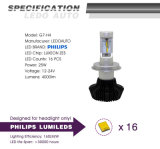 Luz principal do diodo emissor de luz do carro da Philips 4000lm H4 Hi/Lo auto