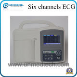 病院の使用6チャネルECG機械