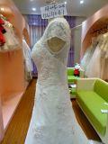 Vestido de boda corto de las mujeres del vestido de boda del Applique de la manga Uw4041