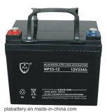 O PLA 12V33ah selou a bateria acidificada ao chumbo regulada válvula