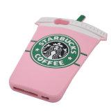 Caja del teléfono del silicón de la individualidad de la taza de café de Starbucks para el caso más de /iPhone 6 del iPhone 6
