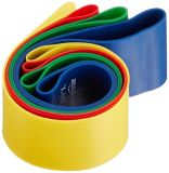Exercice de boucle de bande de résistance, genou/cuisse, cercle 4 PK, réadaptation, physio-, son de cheville