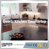 Pietra naturale del quarzo per il controsoffitto della cucina con superficie Polished