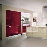 Armário de cozinha elevado moderno de venda quente da laca do lustro de Ritz 2015