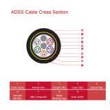 Кабель ADSS центральной свободной пробки неметалла напольный оптически