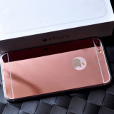 iPhone6/6sのためのアクリル+TPUローズGold Mirror Surface Phone Case