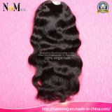 Densidade 130% 150% 180% Médio Castanho Cor Natural Cabelo Humano Frente Lace U Parte Perucas Virgin Hair