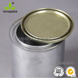 la piccola vernice rotonda personalizzata 100ml del barattolo di latta può con Solleva-fuori la protezione