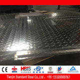 Folha de alumínio 3105 do teste padrão diamante de cinco barras