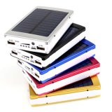 batería portable externa de la energía solar del cargador de batería del teléfono de 12000mAh LED