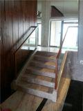 Bois solide de DM KH avec la balustrade d'escalier en verre Tempered