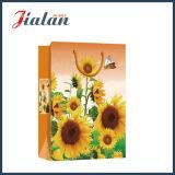 Лоснистый прокатанный подарка покупкы солнцецветов бумаги с покрытием мешок дешевого бумажный
