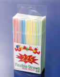 NahrungGrade pp. Material 225PCS PVC Box Packed Flexible Straws (JY416)