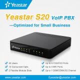 Sistema de Yeastar S20 VoIP PBX para a canaleta da G/M da empresa de pequeno porte opcional