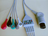 Geläufiges Rou 6pin 3&5 Snap&Klipp ECG Kabel