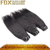 ブラジルのねじれたまっすぐな人間の毛髪の耐久のよこ糸は毛の拡張を縫う