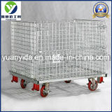 Wheel를 가진 아연 Plated Wire Mesh Storage Container Cage