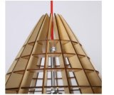 Luz de techo pendiente decorativa de madera del LED