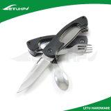 Cuchillo que acampa de múltiples funciones de campaña, con Tenedor y cuchara