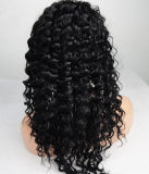 """26 """" 28 """" perucas retas Kinky da parte dianteira do laço do Afro para mulheres"""