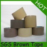 粘着テープを詰めているブラウンBOPP
