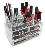 Visualización cosmética de acrílico del caso del almacenaje del maquillaje y de la joyería