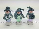 Regalos del arte de las decoraciones de la Navidad del muñeco de nieve con la luz de la Navidad del LED